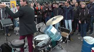 Together with people from all around the world in a street party. hamburg 25.4.15 (Oded Kafri)