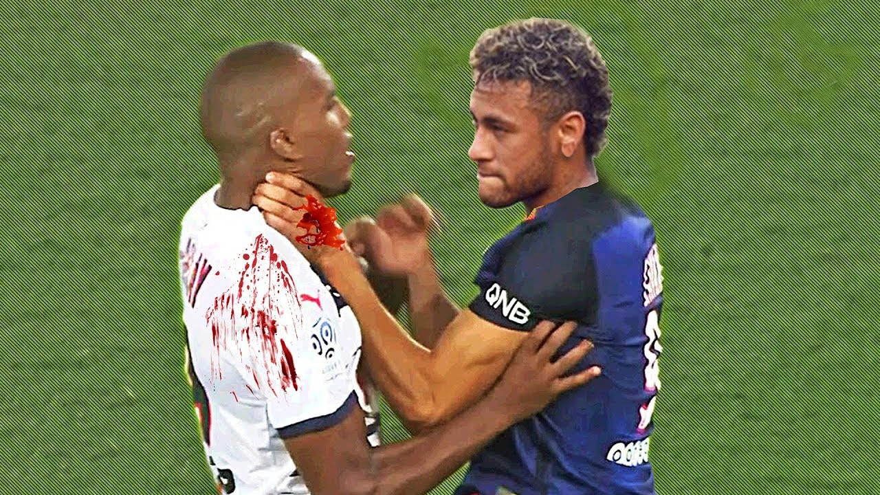 Craziest Football Fights & Angry Moments ft. Neymar, Ibrahimovic, Ronaldo  HD