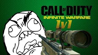 Infinite Warfare - 1v1 Sniper Battle Funny Moments, Derp Shots, Raging Montage