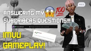 Answering My Subscribers WILD Questions!!! Q&A [ IMVU GAMEPLAY ]