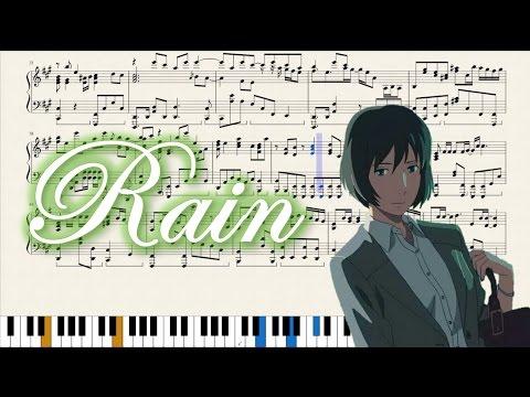 Rain (The Garden of Words Ending) Sheet music