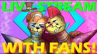Minecraft Freddy LIVESTREAM WITH FANS!