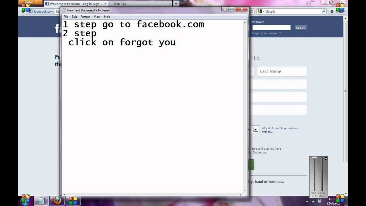 login facebook if you forget your email username