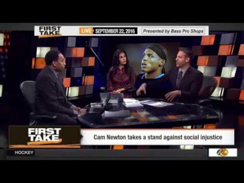 ESPN FIRST TAKE TV - Cam Newton On Police Shootings Social Injustice