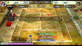 Hot Shots Tennis: Get a Grip PSP Gameplay