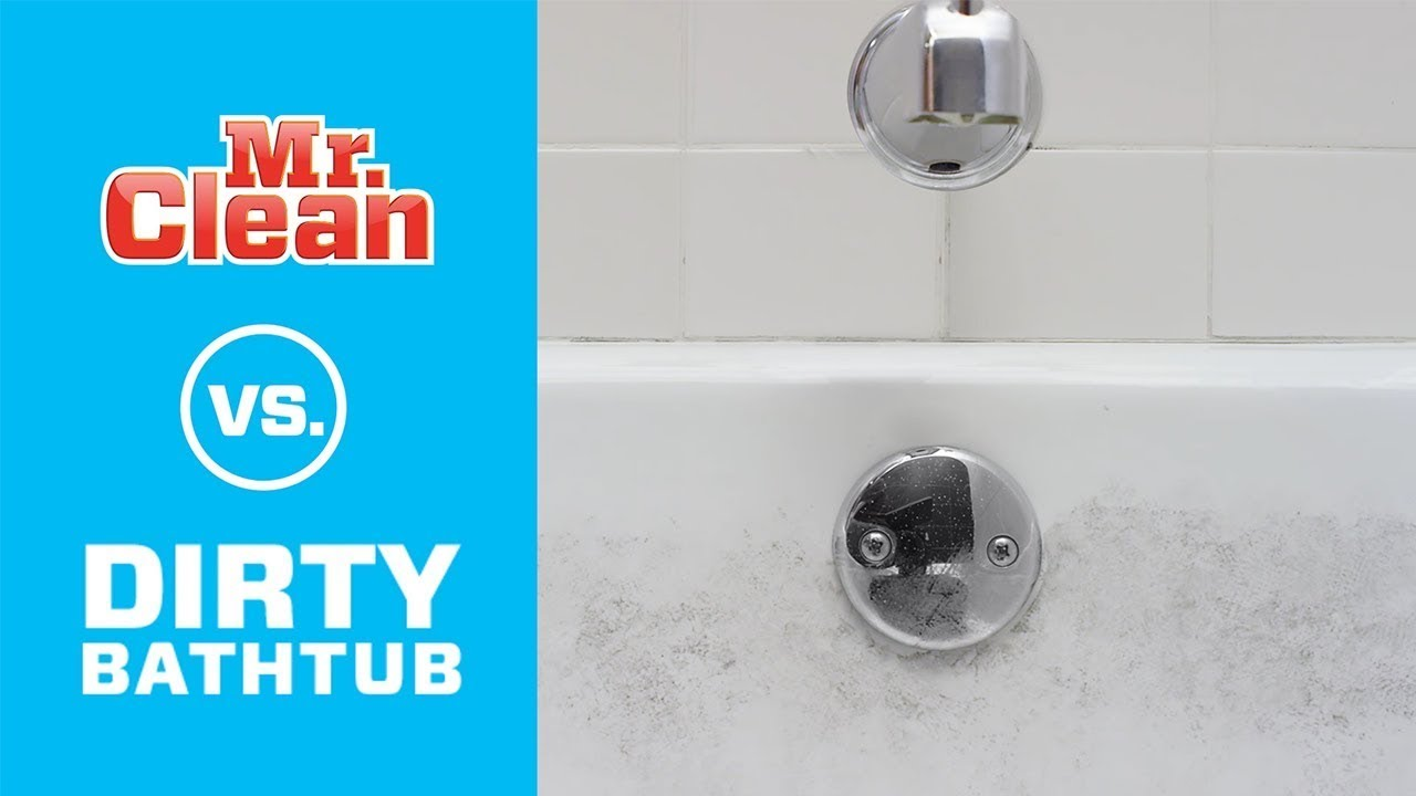 How To Clean Bathtub Dirt And Grime | Mr. Clean®