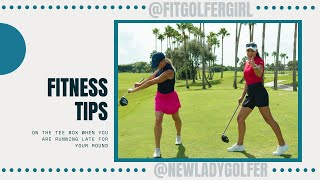 @Fit Golfer Girl Fitness Tip On The Tee Box