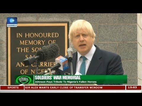 Johnson Pays Tribute To Nigeria's Fallen Heroes | News Across  Nigeria |