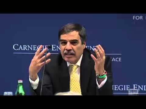 Former Libyan National Transitional Council Finance Minister Ali Tarhouni