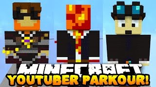Minecraft YOUTUBER PARKOUR! (PrestonPlayz, TheDiamondMinecart, SkyDoesMinecraft & More!)