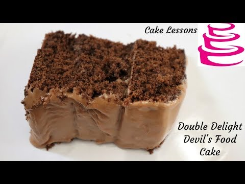 Double Delight Devil's Food, Chocolate Marshmallow Icing, Cake Lessons