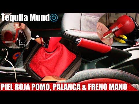 Cómo Poner MÁS PIEL | POMO/ PALANCA Velocidades & Freno Mano | Rojo Ferrari | Ibiza | Tequila Mundo