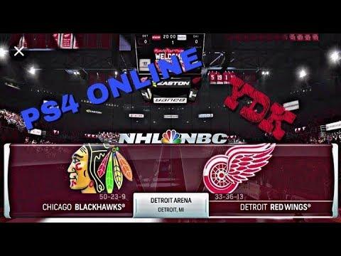 Chicago Blackhawks Vs Detroit Red Wings - NHL 18 Online (Ps4 Pro)