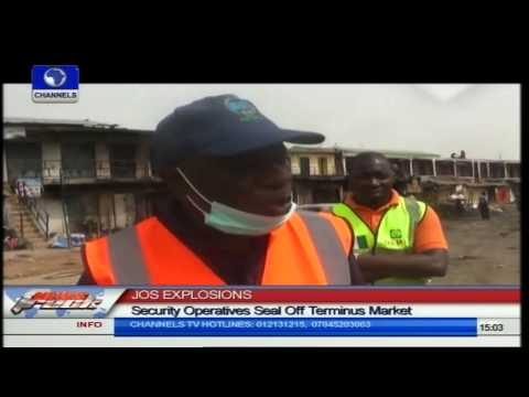 Jos Explosion: Security Operatives Seal Off Terminus Market