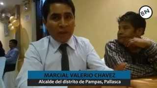 Marcial Valerio alcalde de Pampas, se defiende
