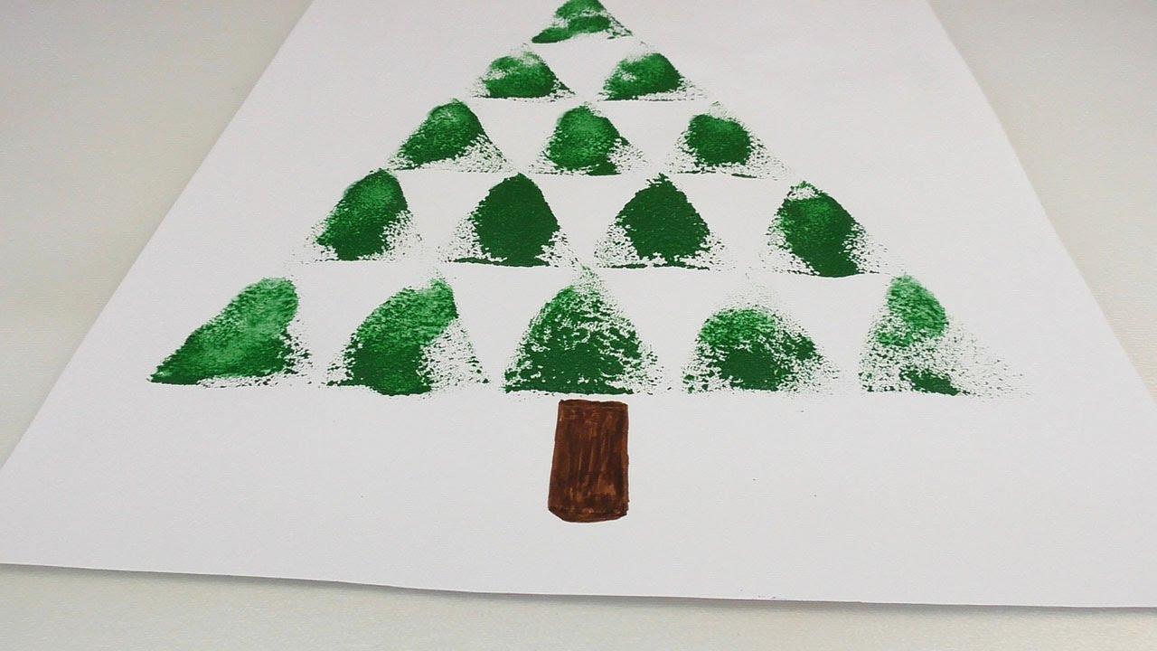 weihnachtsbaum basteln mit schwamm p nktlich zum fest und f r alle auch noch im neuen jahr. Black Bedroom Furniture Sets. Home Design Ideas