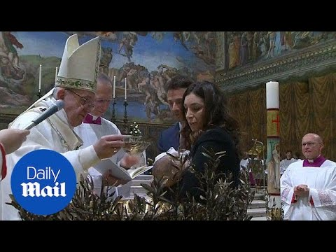 Pope says 'Breastfeed your baby just like the Madonna did' - Daily Mail