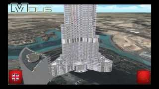 MOLIS project - Burj Khalifa 3D realtime model with Ferrari colors interface