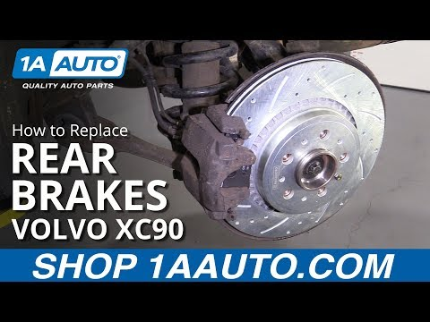 How to Replace Rear Brakes 03-14 Volvo XC90