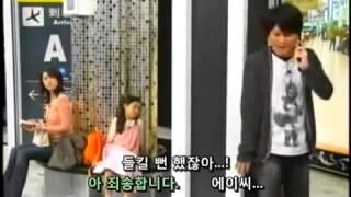 일본개그] 기둥때문에   사람을 서로 착각하며 보고 대화