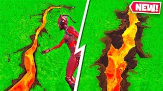 FORTNITE CRACKS ARE EXPANDING! LAVA UNDER THE MAP! Fortnite Season 8!
