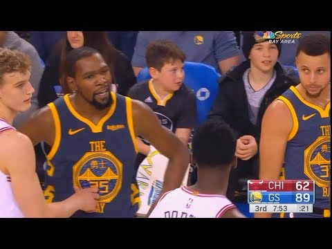 Kevin Durant Wanna Fight Bobby Portis For Confronting Him & Both Exchange Words! Warriors vs Bulls