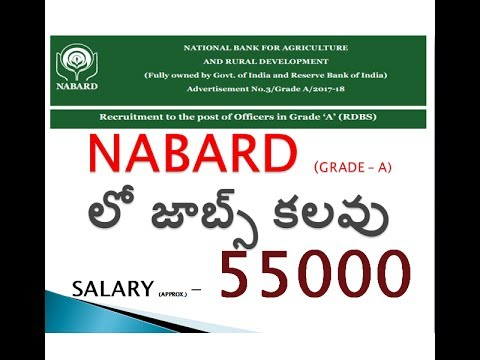NABARAD GRADE-A OFFICERS RECRUITMENT || BANK JOBS IN TELUGU