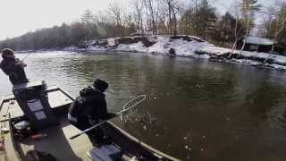Spring Steelhead fishing the Muskegon River in Michigan