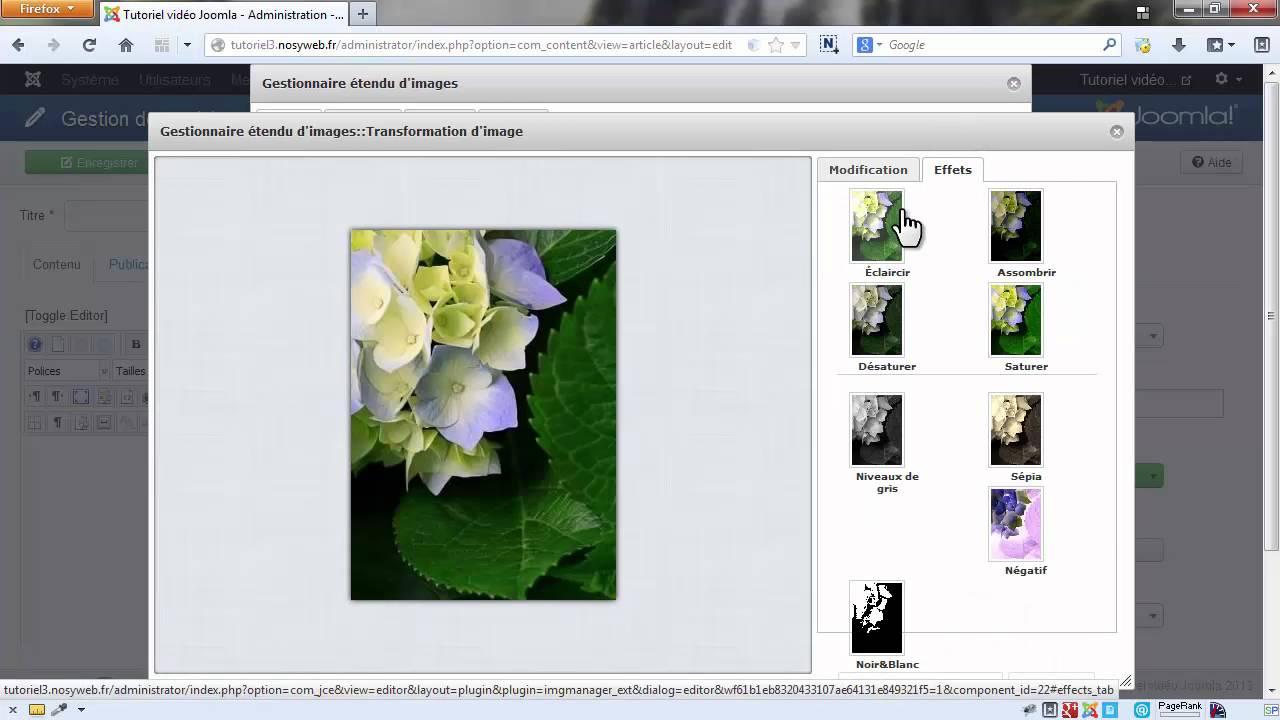 Les fondamentaux Joomla - La création et la gestion de vos images