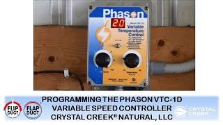 Programming the Phason VTC-1D Variable Speed Controller thumbnail