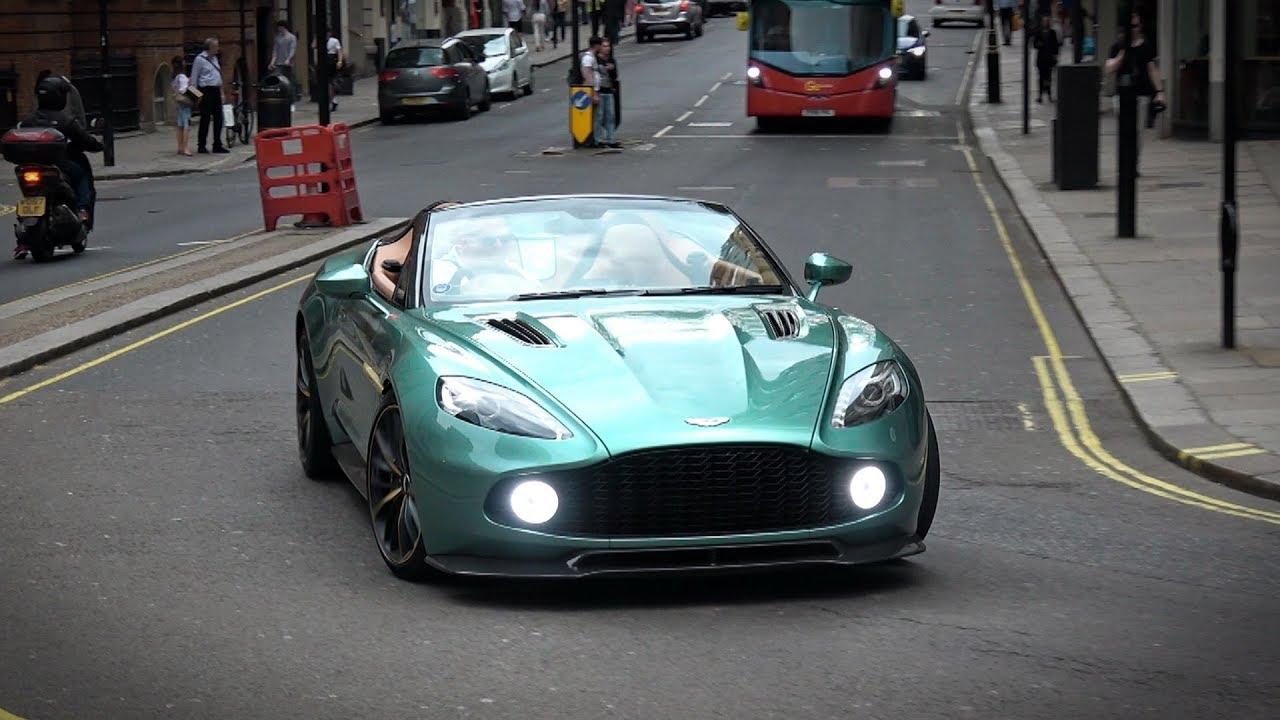 Aston Martin Vanquish Zagato Speedster Start Up And Acceleration