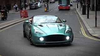 Aston Martin Vanquish Zagato Speedster - Start up and acceleration sound!