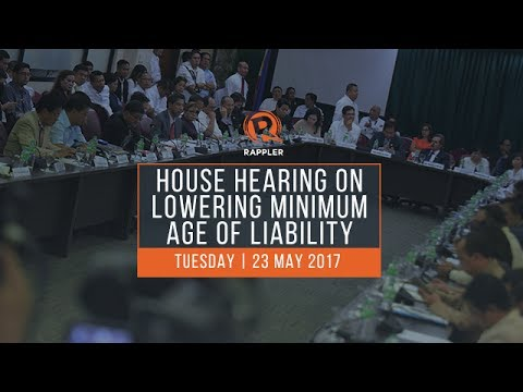 LIVE: House hearing on minimum age of criminal liability