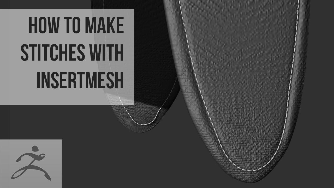 How to make stitches with InsertMesh Brush | Tutorial (Zbrush)