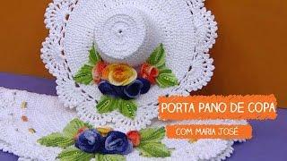 Porta Pano de Copa – Maria José