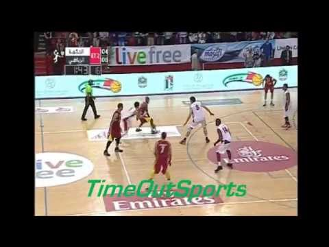 Al Riyadi (LIB) 120 vs 118 Sagesse (LIB) - Dubai International Basketball Tournament 2015 Final