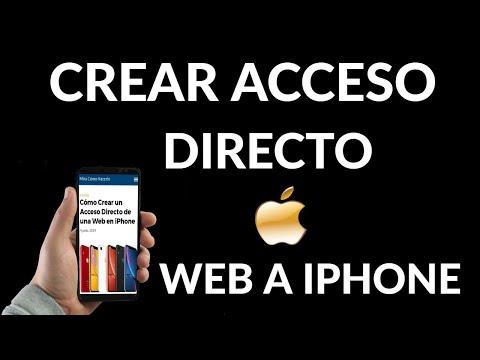 Cómo Crear un Acceso Directo de una Web en iPhone