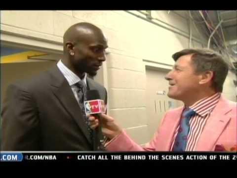 ⒽKevin Garnett tells Craig Sager to Burn his clothes!