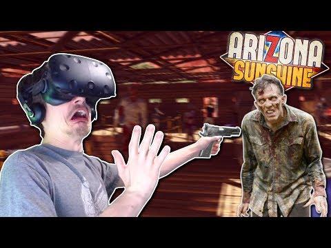 DEFENDING AGAINST ZOMBIE HORDE?! - Arizona Sunshine Gameplay - VR Zombie Survival Horde Mode