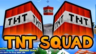 "Minecraft Poofless Bridges! ""THE TNT SQUAD!"" w/ Preston and Woofless"