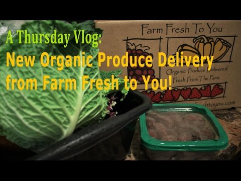 New Farm Fresh to You Delivery | Early Morning Vlog #OrganicProduce