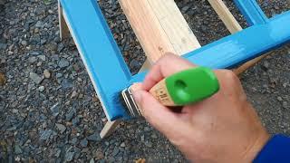 Proměna dřevěných kastlových oken Osmo - odstín holubí modř