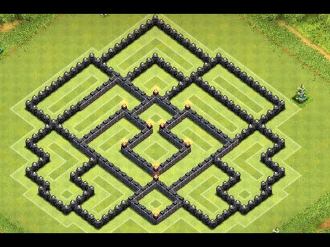 Clash of Clans - BEST TH9 Trophy Push/War Base Speed Build