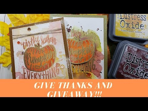 Pumpkin Card and GIVEAWAY To Say Thank You! Happy Thanksgiving!!