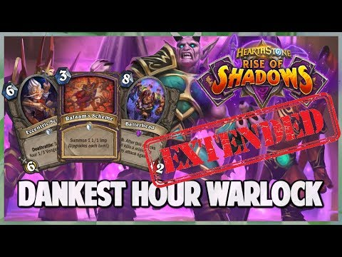 Dankest Hour Warlock | Extended Gameplay | Hearthstone | Rise of Shadows
