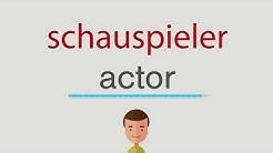 Wie heißt schauspieler auf englisch