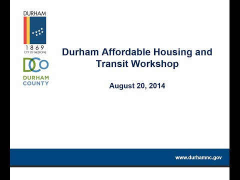 Affordable Housing & Transit Kick-Off Meeting (August 20, 2014)