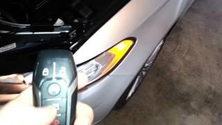 2014 Ford Fusion Titanium Sedan - Testing Key Fob After Changing Battery - Parking Lights Flashing
