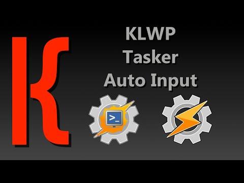 KLWP, Tasker, AutoInput Tutorial