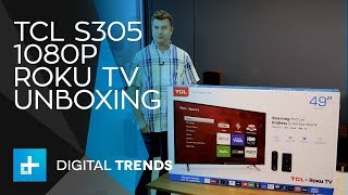TCL S305 1080p Roku TV - Unboxing